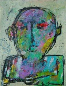 2078 acryl sur papier 65x50 (cadeau de l'artiste)