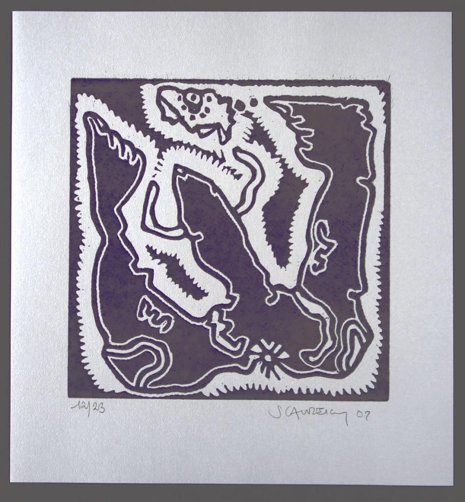 violet noir 25x25 sur 37x34.5 N° 12-23