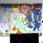 sur palette - Le promeneur - format 78x107